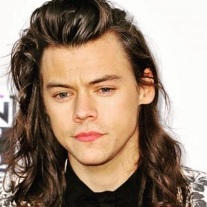 Harry Styles - shoulder length with curls