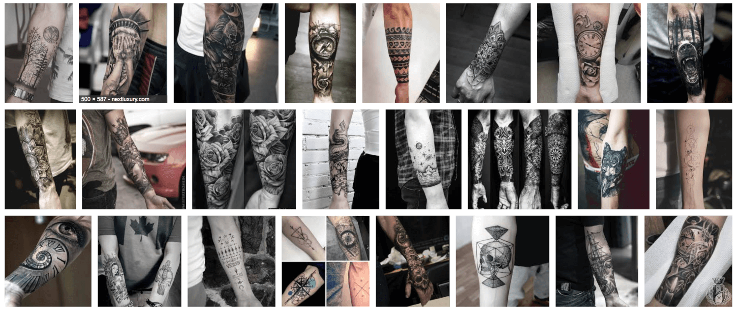 101 Forearm tattoo designs for men - (Incl quotes and tribal designs ...