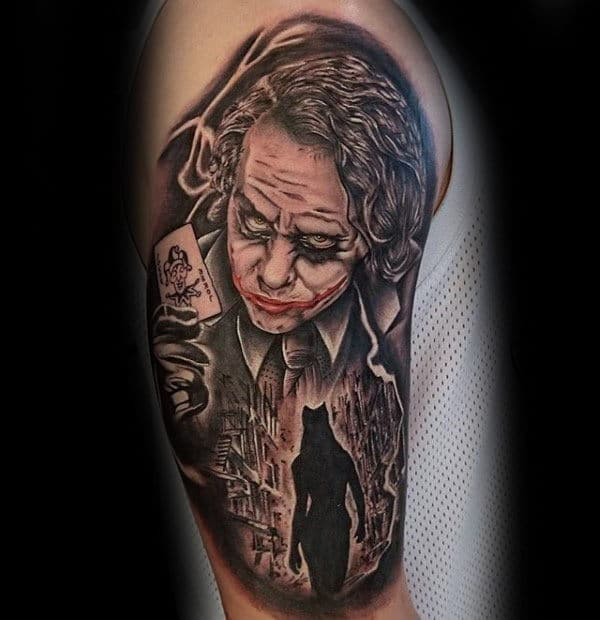 Awesome The Joker Half Sleeve