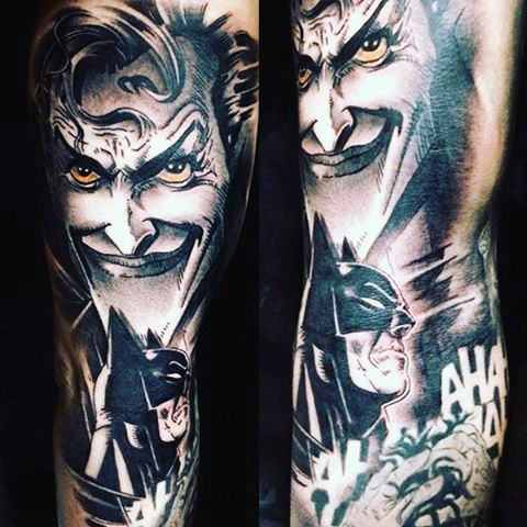 Batman & Joker Arm Tattoo