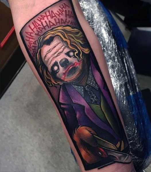 Cartoon Style The Joker Tattoo