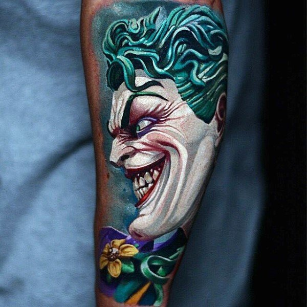 Colourful Creative The Joker Tattoo