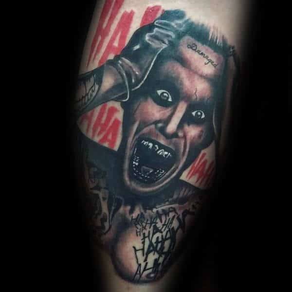 Jared Leto The Joker Tattoo Design