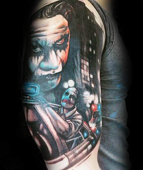 The Joker Riding On Police Car Sleeve
