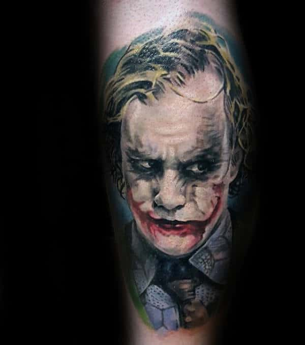 The Joker Portrait Tattoo