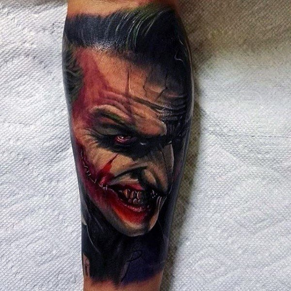 Man with The Joker Sleeve