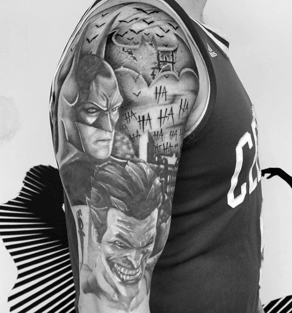 Batman & The Joker Gotham City Full Sleeve