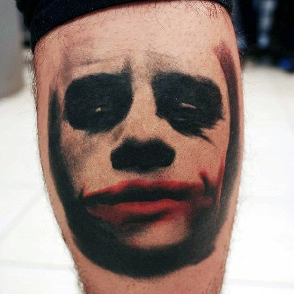Red & Black The Joker Tattoo