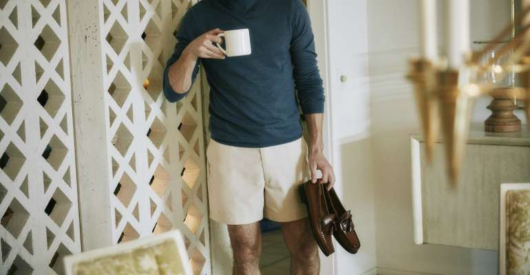 hudson loafers and shorts