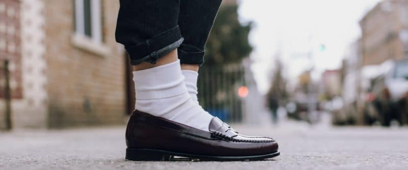 man black loafers