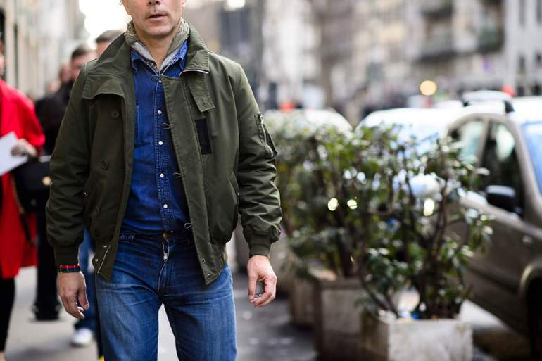 Military jacket Mens Street Style paris
