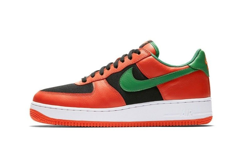 nike air force 1 carnival red side on
