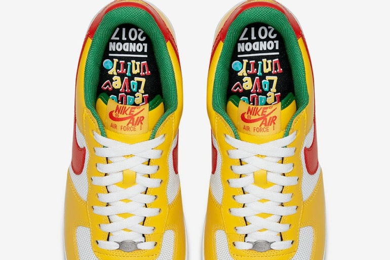 nike air force one carnival yellow birdseye