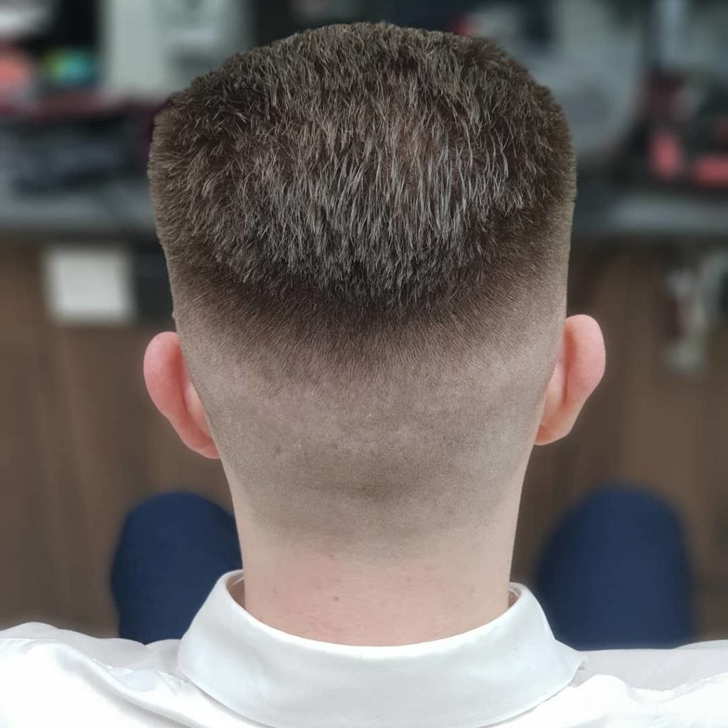 Slick back with fade undercut